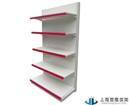 超市专用货架主要由立柱与基脚连体焊接,并具有极强防腐,防锈效果