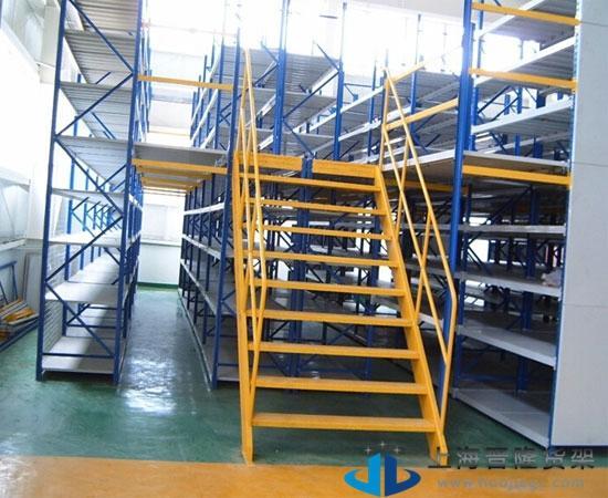 上海晋隆货架钢制阁楼货架新款图片