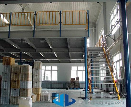 上海4s店 阁楼货架有组装式结构和焊接式结构,设计可根据场地的实际