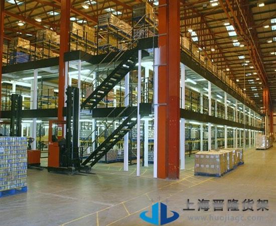 上海多层重型阁楼货架图片
