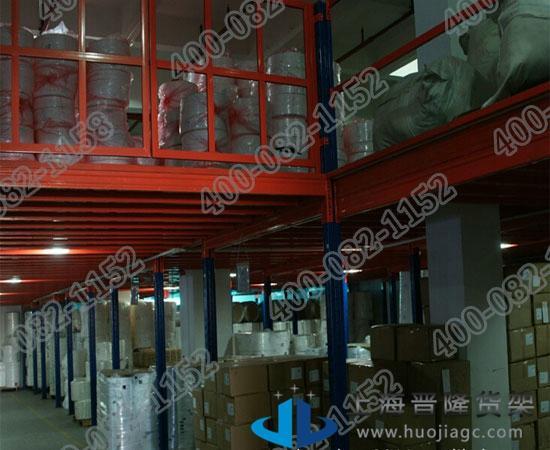 上海厂家钢阁楼货架最新产品制作图片