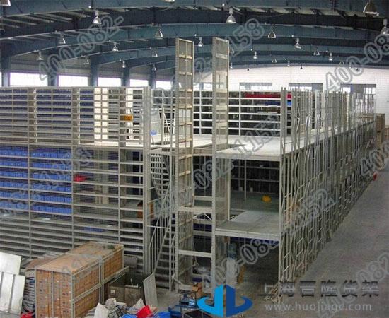 上海阁楼式中型货架尺寸可定做最新款图片