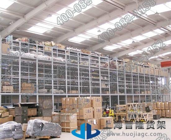 上海仓储货物阁楼货架尺寸可定做最新款图片