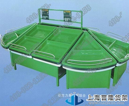上海商场专用果蔬货架最新产品制作图片