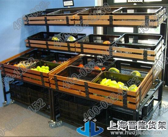 上海晋隆货架高档木质果蔬货架新款图片