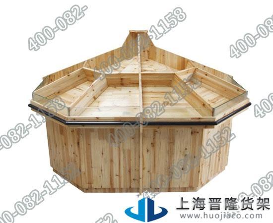 上海各种实木散装果蔬货架最新产品制作图片