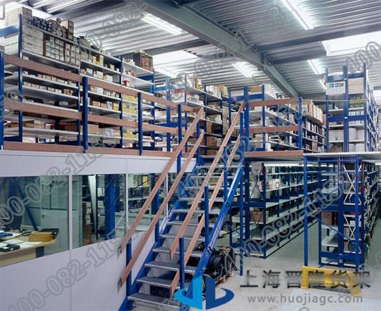 上海标准中型阁楼货架尺寸可定做最新款图片