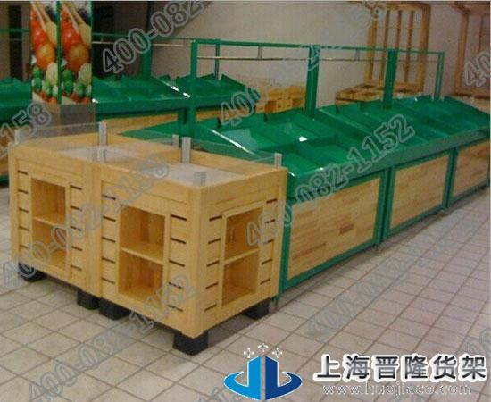 上海钢木结合果蔬货架各种款式图片