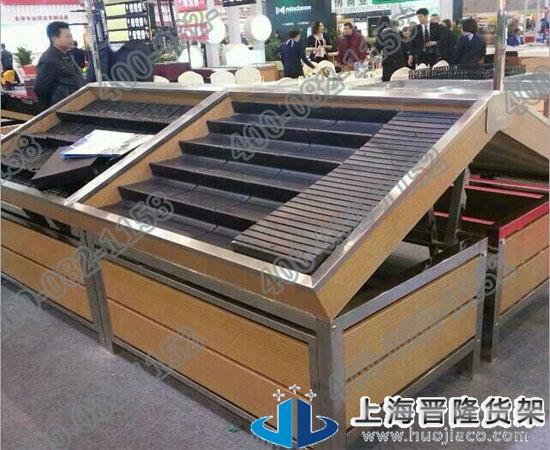 上海钢木质蔬果货架尺寸可定做最新款图片