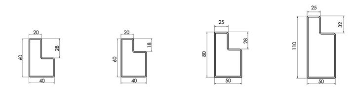 新型库房货架阶梯梁尺寸